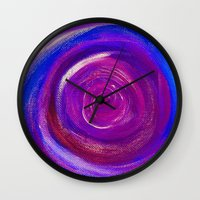 Purple Cyclone Wall Clock