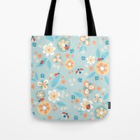 Ladybugs In The Garden Tote Bag