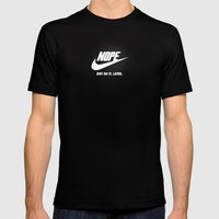 Nope – Just Do It. Lat… Mens Fitted Tee Black SMALL