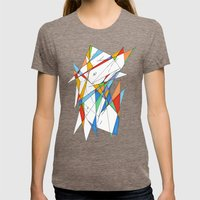 love is simple Womens Fitted Tee Tri-Coffee SMALL