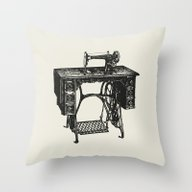 Singer Sewing Machine Throw Pillow