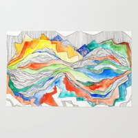Technicolor Mountains Rug
