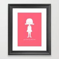 You Are My Little One Gi… Framed Art Print