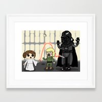 The force is wrong with this one Framed Art Print