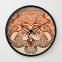 Polynesian Red Panda Wall Clock