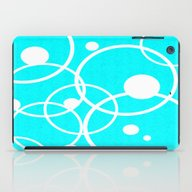 iPad Case featuring Circles On Blue by Crayle Vanest