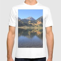 Twin Lakes, CO Mens Fitted Tee White SMALL