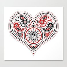 83 Drops - Hearts (Red & Black) Canvas Print