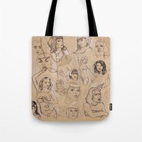 Burlesque Sketchbook Tote Bag