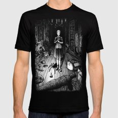 Spiders in the attic Mens Fitted Tee Black SMALL