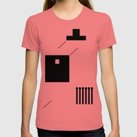 haus 2 Womens Fitted Tee Pomegranate SMALL
