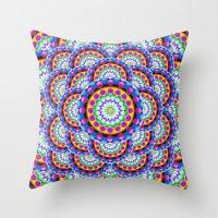 Mandala Psychedelic Visi… Throw Pillow