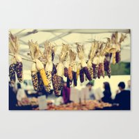 Indian Corn at the Farmers Market Canvas Print