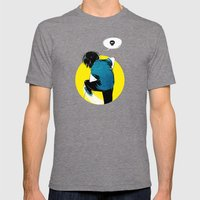 Yellow Mens Fitted Tee Tri-Grey SMALL