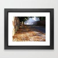 Autumn Road Framed Art Print