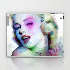 Marilyn under brushes effects Laptop & iPad Skin