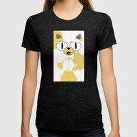 CAKE THE CAT Womens Fitted Tee Tri-Black SMALL