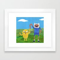 Finn And Jake! Framed Art Print