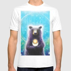 Bear Mens Fitted Tee SMALL White