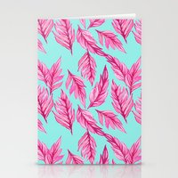 Fuchsia Leaves Stationery Cards