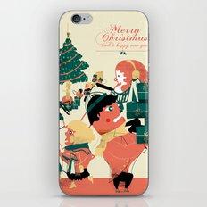 CHRISTMAS POSTCARD iPhone & iPod Skin