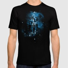 Time Traveller SMALL Black Mens Fitted Tee