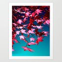 red tree II Art Print