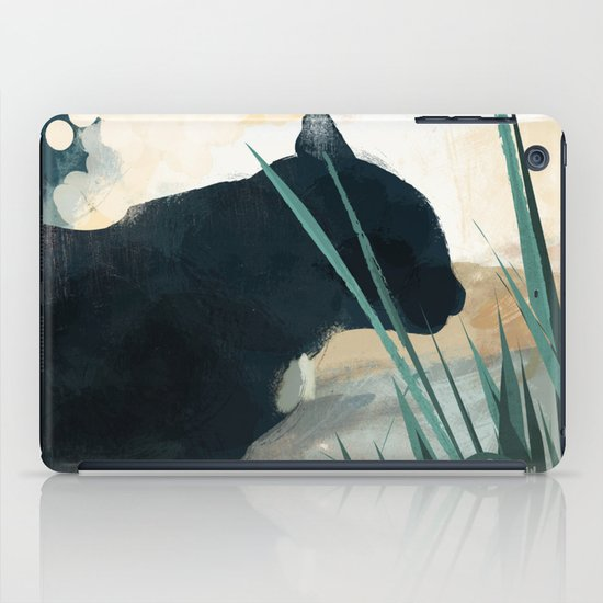 Skelly Cat in the Grass iPad Case
