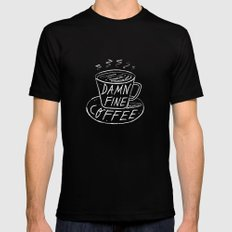 Damn Fine Coffee SMALL Mens Fitted Tee Black