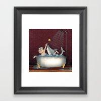 Lets Take A Bath Framed Art Print