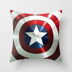 Captain Steve Rogers Shields  Throw Pillow