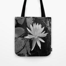 b&w water flower Tote Bag