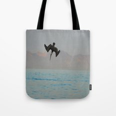 Nose-diving pelican 2 Tote Bag