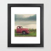 The Farm Truck Framed Art Print