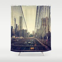 Oncoming Traffic Shower Curtain