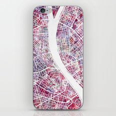 Budapest map iPhone & iPod Skin