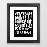 CHANGE Framed Art Print