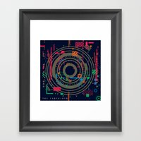 chaos vs order - the labyrinth within v2 Framed Art Print