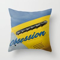 P51 Obsession Throw Pillow