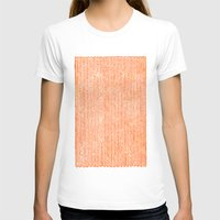 chevron T-shirts featuring Stockinette Orange by Elisa Sandoval