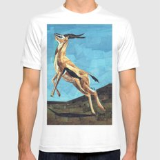 Gazelle Mens Fitted Tee White SMALL
