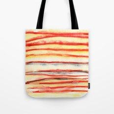 Just Stripes, Hesitant Vermillion Tote Bag