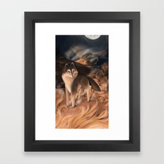 The Fire Framed Art Print