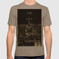 New York, New York. Mens Fitted Tee Tri-Coffee SMALL