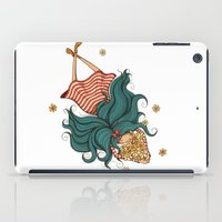 Girl and flowers iPad Case