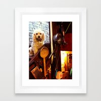 My dear Poodle Framed Art Print