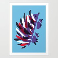 Colorful Abstract Hedgehog Art Print