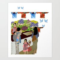 Happy Valley Flower Mark… Art Print