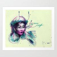 pen-fairy Art Print