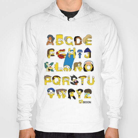 Simpsons Alphabet Hoody